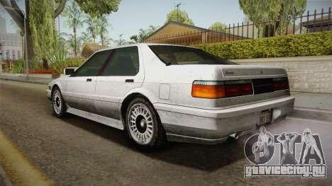 GTA 4 Dinka Hakumai Tuned Bumpers SA Style для GTA San Andreas вид слева