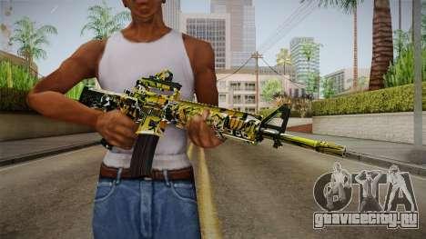 Orange Camo M4 для GTA San Andreas третий скриншот