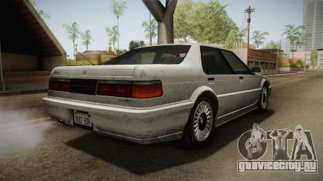 GTA 4 Dinka Hakumai Tuned Bumpers SA Style для GTA San Andreas вид сзади слева