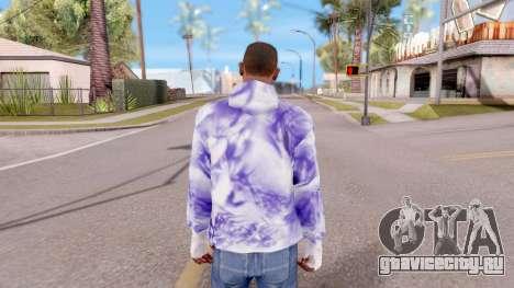 Фиолетовая толстовка для GTA San Andreas третий скриншот