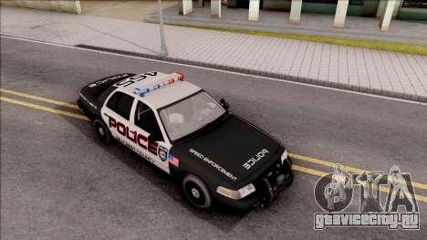 Ford Crown Vitoria High Speed Police для GTA San Andreas вид справа