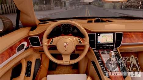 Porsche Panamera GTS 2012 для GTA San Andreas вид изнутри