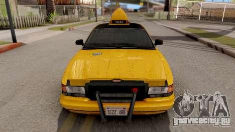 GTA IV Taxi для GTA San Andreas вид справа