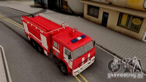 КамАЗ-6520 Пожарный АЦ-40 для GTA San Andreas вид справа