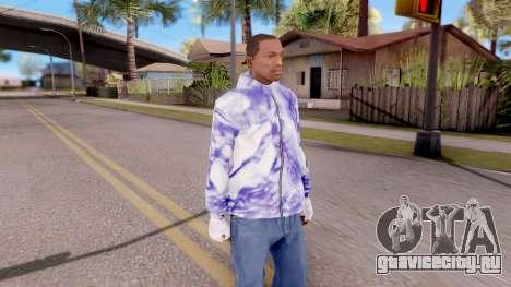 Фиолетовая толстовка для GTA San Andreas второй скриншот