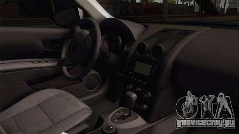 Nissan Qashqai Guatdia Civil Spanish для GTA San Andreas вид изнутри