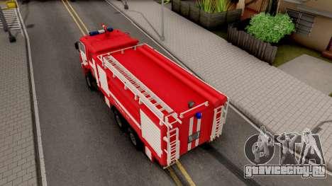 КамАЗ-6520 Пожарный АЦ-40 для GTA San Andreas вид сзади