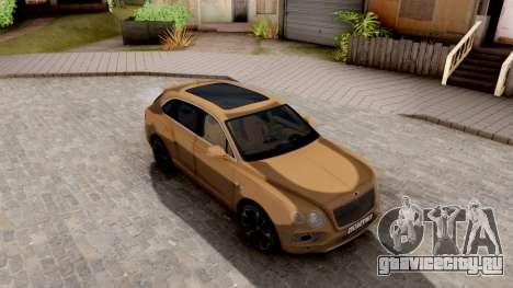 Bentley Bentayga для GTA San Andreas вид справа