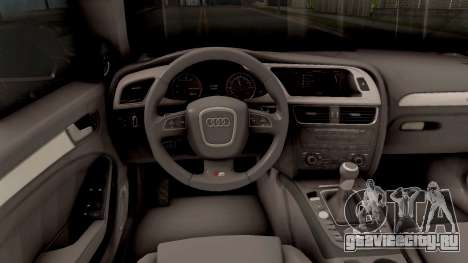 Audi S4 Russian Police для GTA San Andreas вид изнутри