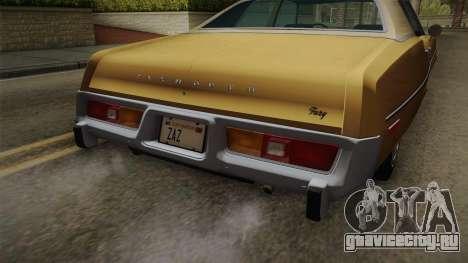 Plymouth Fury Salon (RL41) 1978 HQLM для GTA San Andreas вид изнутри
