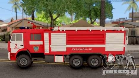 КамАЗ-6520 Пожарный АЦ-40 для GTA San Andreas вид слева