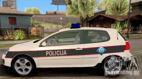 Volkswagen Golf V - BIH Police Car для GTA San Andreas