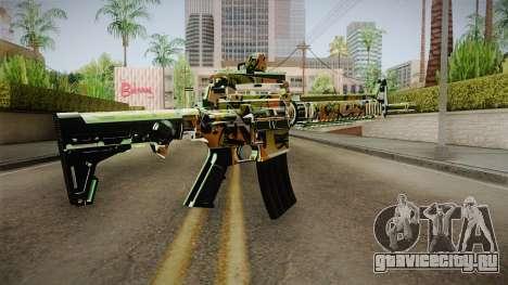 Orange Camo M4 для GTA San Andreas второй скриншот