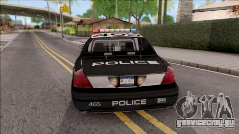 Ford Crown Vitoria High Speed Police для GTA San Andreas вид сзади слева