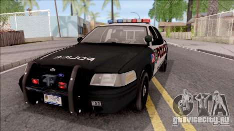 Ford Crown Vitoria High Speed Police для GTA San Andreas