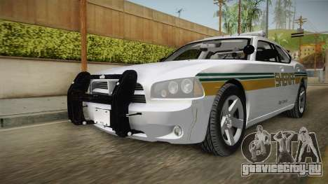 Dodge Charger 2009 Red County Sheriff Office для GTA San Andreas
