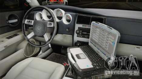 Dodge Charger 2009 Red County Sheriff Office для GTA San Andreas вид изнутри
