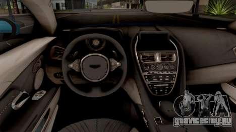 Aston Martin DB11 2017 для GTA San Andreas вид изнутри