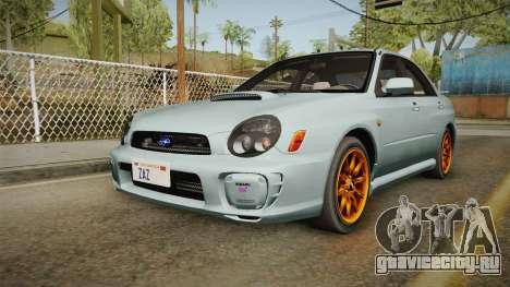 Subaru Impreza WRX Tunable для GTA San Andreas