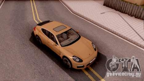 Porsche Panamera GTS 2012 для GTA San Andreas вид справа