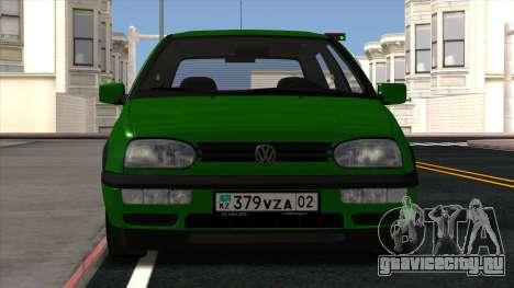Volkswagen Golf Mk3 1997 для GTA San Andreas вид сзади слева