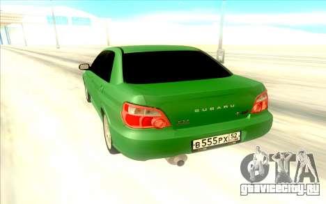 Subaru WRX STI для GTA San Andreas вид справа