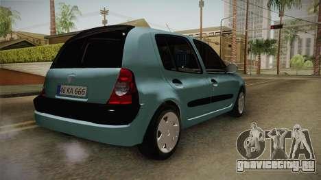 Renault Clio 1.6 16v Hatchback для GTA San Andreas
