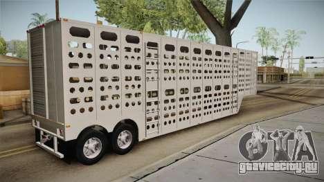 Double Trailer Livestock v1 для GTA San Andreas вид слева