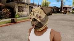 Маска Собака Мопс для GTA San Andreas