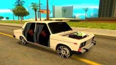 ВАЗ 2106 белый для GTA San Andreas