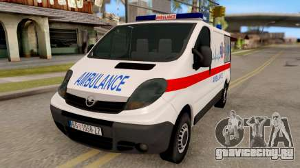 Opel Vivaro Serbian Ambulance для GTA San Andreas