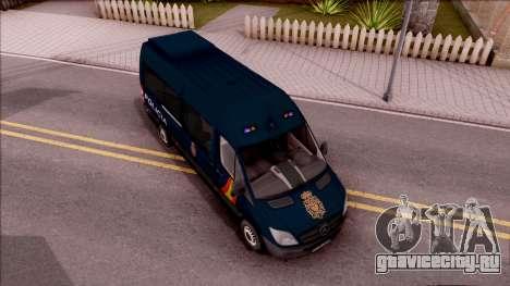 Mercedes-Benz Sprinter Spanish Police для GTA San Andreas вид справа