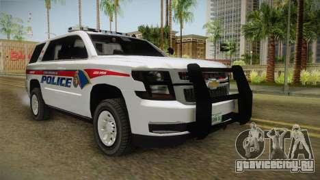 Chevrolet Tahoe PPV 2016 YRP для GTA San Andreas вид справа