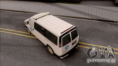 Chevrolet Express San Andreas DOT 2010 для GTA San Andreas вид сзади