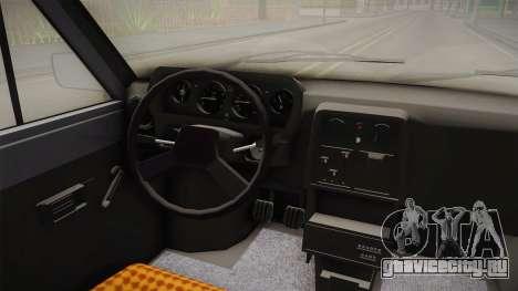 Škoda 120L для GTA San Andreas вид изнутри