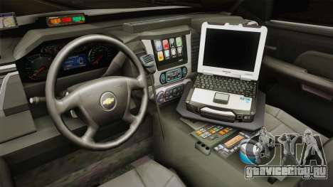 Chevrolet Tahoe PPV 2016 YRP для GTA San Andreas вид изнутри