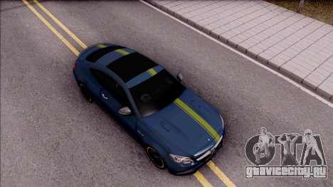 Mercedes-Benz C63S AMG Coupe 2016 v3 для GTA San Andreas вид справа
