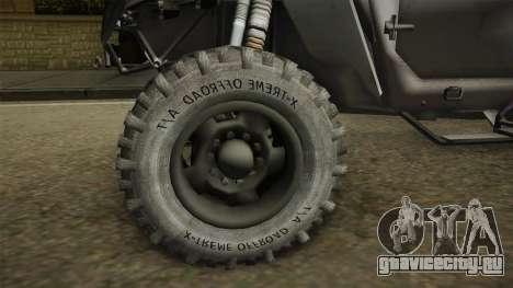 Ghost Recon Wildlands - Unidad AMV IVF для GTA San Andreas вид сзади
