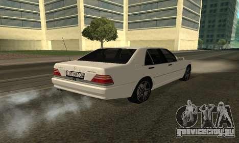 Mercedes-Benz S600 Armenian для GTA San Andreas вид слева