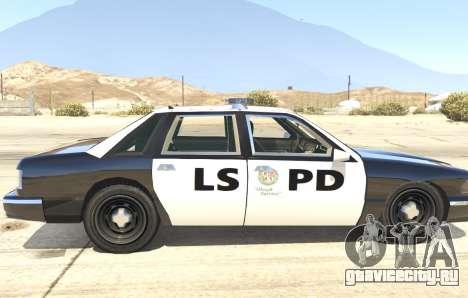 Полицейское авто из GTA San Andreas для GTA 5 вид сзади слева