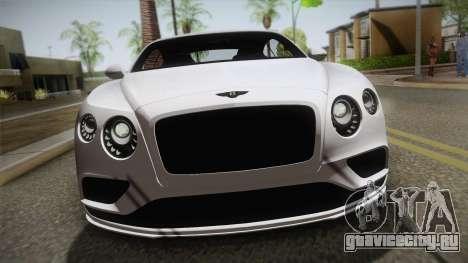 Bentley Continental SuperSport для GTA San Andreas вид справа