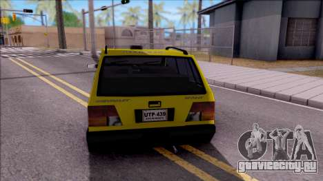 Chevrolet Sprint Taxi Colombiano для GTA San Andreas вид сзади слева