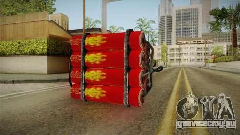 Dynamite With Clock China Wind для GTA San Andreas