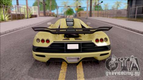 Koenigsegg CCX для GTA San Andreas вид сзади слева