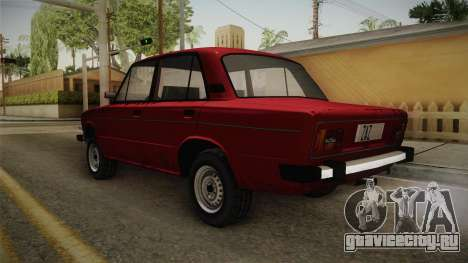 ВАЗ 2106 SA Style v2 для GTA San Andreas вид сзади слева