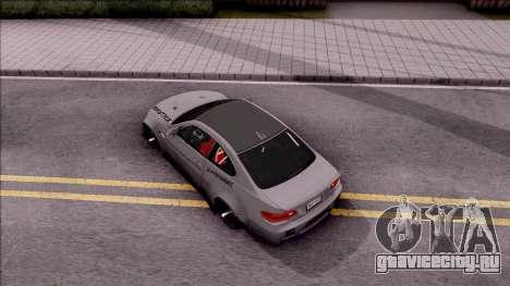 BMW M3 E92 Liberty Walk Performance 2013 для GTA San Andreas вид сзади