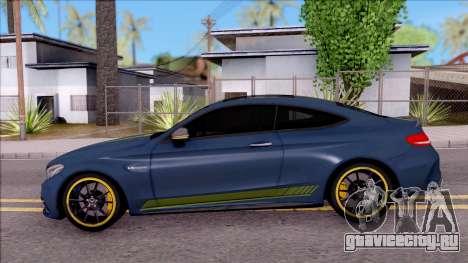 Mercedes-Benz C63S AMG Coupe 2016 v3 для GTA San Andreas вид слева