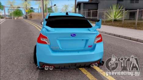 Subaru WRX STI 2017 Tuning для GTA San Andreas вид сзади слева