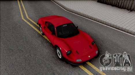 Ferrari Dino 264 1969 для GTA San Andreas вид справа