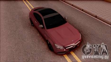 Mercedes-Benz C63S AMG Coupe 2016 для GTA San Andreas вид справа